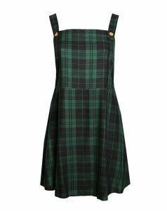 Lovedrobe GB Green Check Pinafore Dress