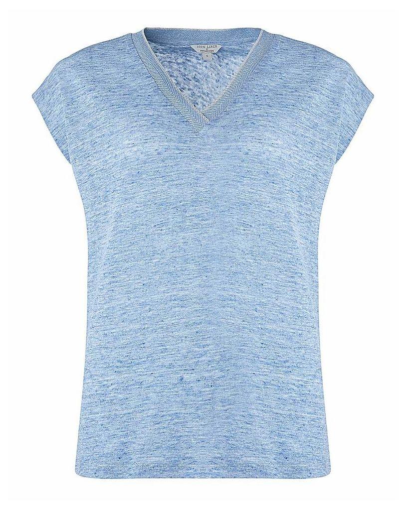 Monsoon Lorna Linen T-Shirt