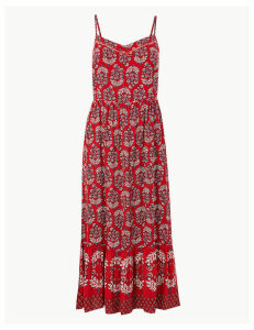 M&S Collection Floral Print Slip Midi Dress