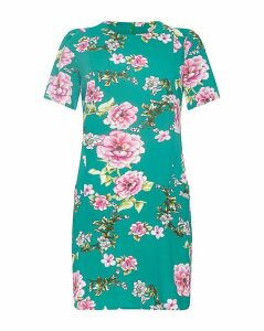 Yumi Curves Oriental Blossom Tunic Dress
