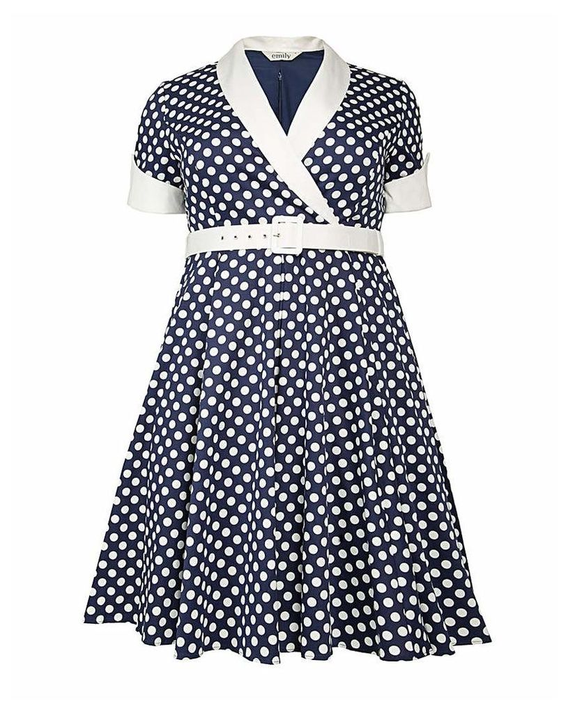 emily Jasmine Rockabilly Polka Dress