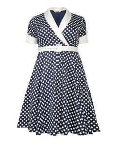 emily Jasmine Rockabilly Polka Dress