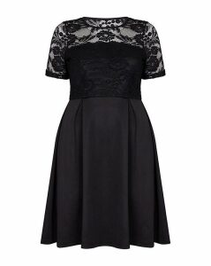 Mela London Curve Lace Skater Dress