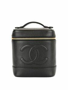 Chanel Pre-Owned CC logos cosmetic vanity hand bag - Black