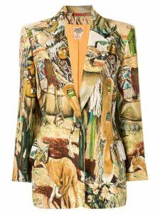 Hermès Pre-Owned printed blazer - Gold