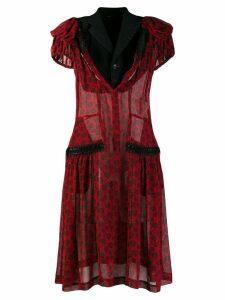 Comme Des Garçons Pre-Owned floral flared dress