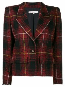Yves Saint Laurent Pre-Owned 1980's tartan blazer - Red