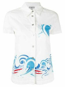 Chanel Pre-Owned wave print shirt - White