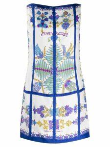 Hermès Vintage floral mini dress - White