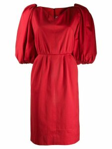Yves Saint Laurent Pre-Owned balloon sleeves dress - Red