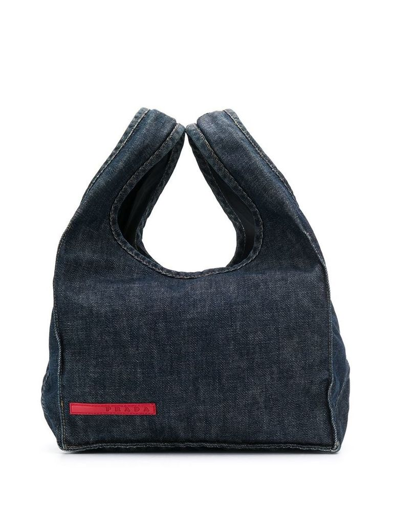 Prada Vintage 2000's denim tote bag - Blue