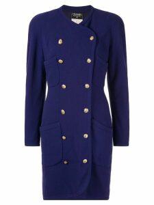 Chanel Pre-Owned Jacket Dress - Purple
