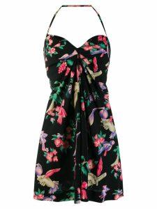 Chanel Pre-Owned halterneck floral dress - Black