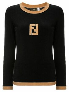 Fendi Pre-Owned long sleeve jumper - Black