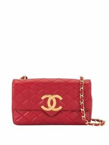 Chanel Pre-Owned 1986-1988 CC Logos Chain Shoulder Bag - Red