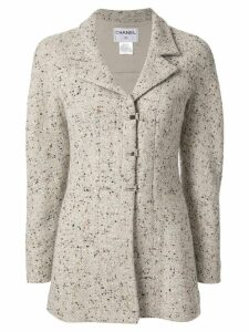 Chanel Pre-Owned tweed long sleeve jacket - Grey
