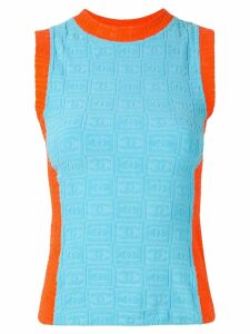 Chanel Pre-Owned knitted sleeveless top - Orange