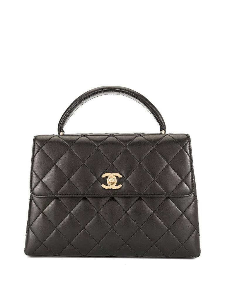 Chanel Vintage CC Logos Hand Bag - Black