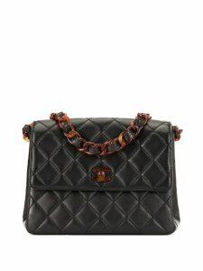 Chanel Pre-Owned CC Logos Plastic Chain Shoulder Bag - Black