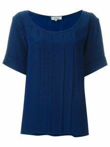 Yves Saint Laurent Pre-Owned pleated boxy top - Blue