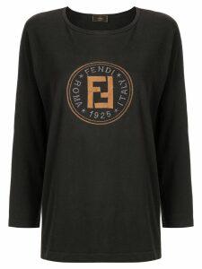 Fendi Pre-Owned long sleeve top - Black