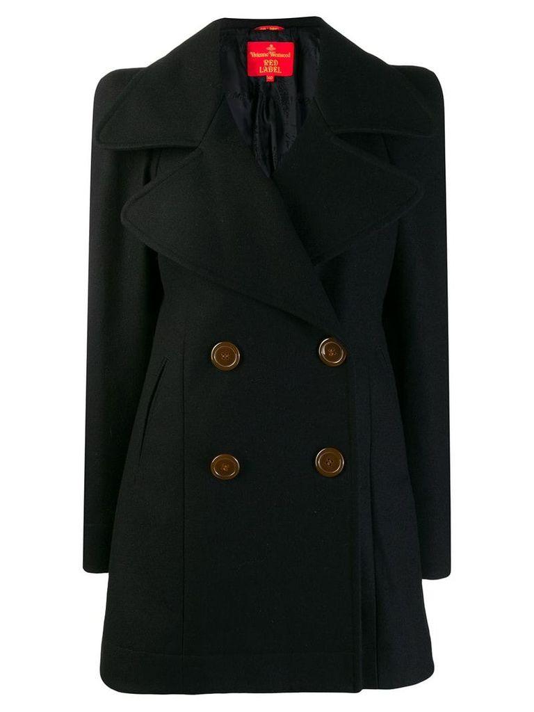 Vivienne Westwood Vintage double-breasted midi coat - Black
