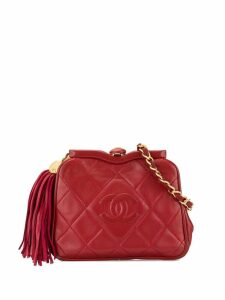 Chanel Pre-Owned CC Logos Fringe Bum Bag - Red