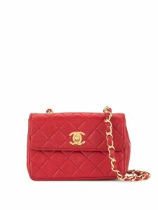 Chanel Pre-Owned CC Logos Chain Shoulder Bag - Red