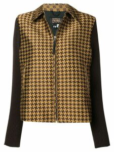 Gianfranco Ferre Pre-Owned 2000's checked jacket - Brown