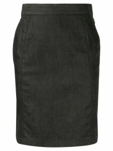Céline Pre-Owned denim pencil skirt - Blue