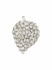 Susan Caplan Vintage 1960s leaf brooch - Silver