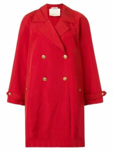 Chanel Pre-Owned long sleeve coat - Red