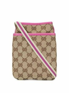 Gucci Pre-Owned Shelly Line GG Pattern Shoulder Bag - Brown