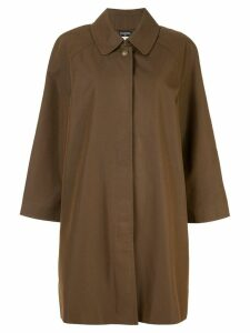 Chanel Pre-Owned long sleeve coat - Brown