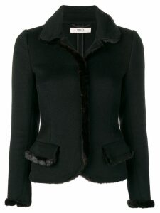 Prada Pre-Owned 1980's fitted short jacket - Black