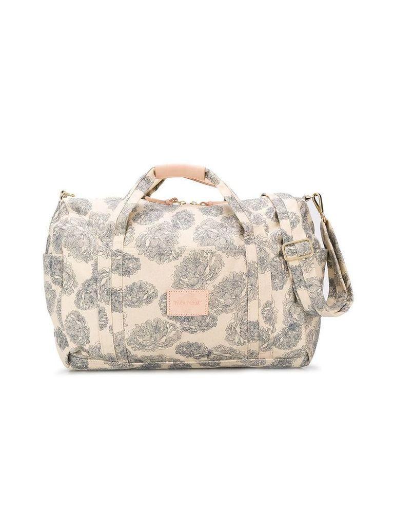 Moumout Peony print duffle bag - Neutrals