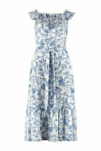 Tory Burch Linen Printed Maxi Dress