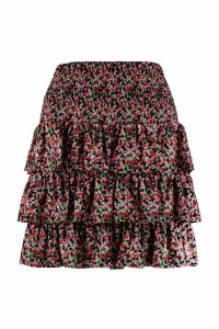 Michael Kors Floral Print Frilled Skirt