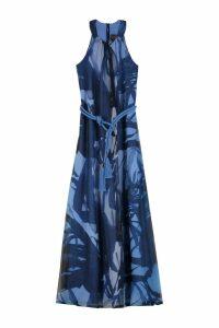 Max Mara Noemi Printed Georgette Gown
