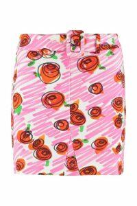 Moschino Printed Cotton Mini-skirt