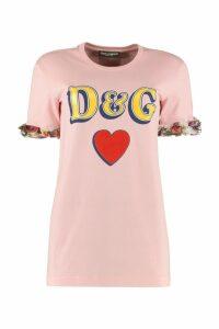 Dolce & Gabbana Cotton T-shirt With Logo