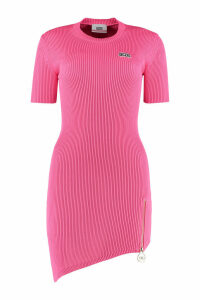 GCDS Ribbed Knit Dress