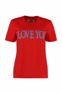 Alberta Ferretti I Love You Cotton T-shirt