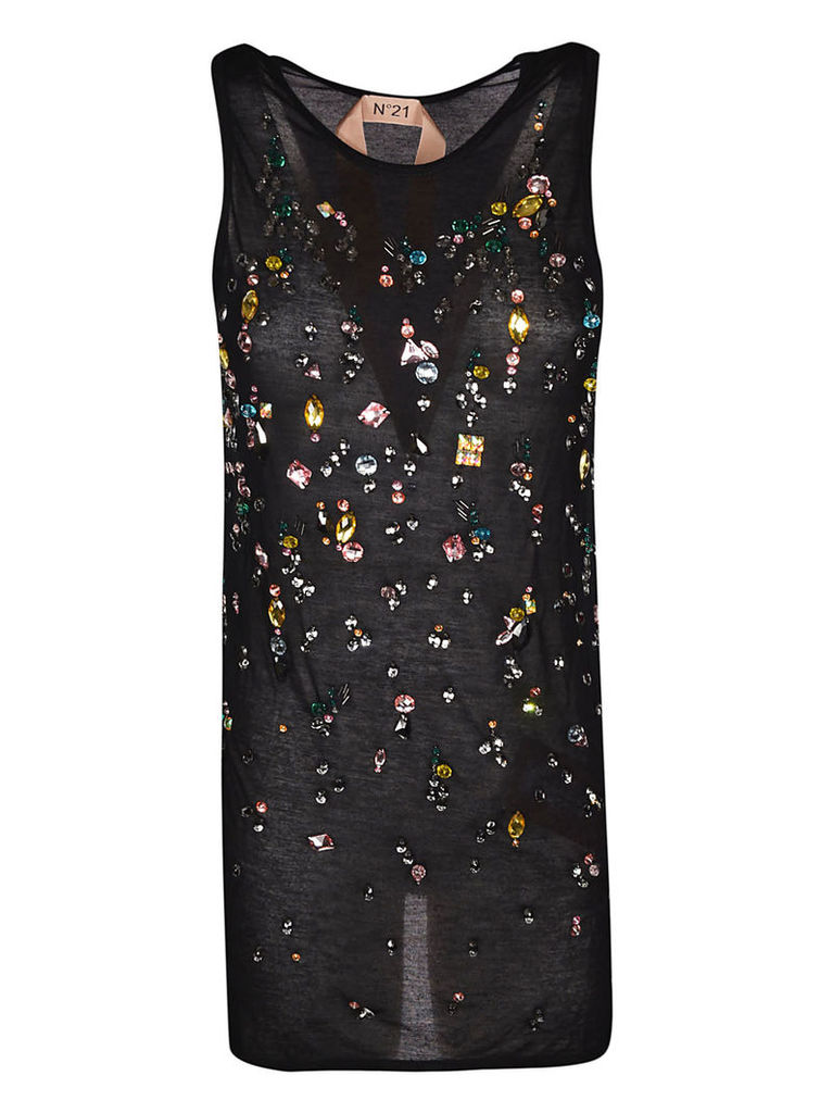 N.21 Embellished Crystals Tank Top