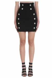 Balmain Buttons High Waist Skirt