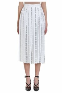 Off-White All Over White Viscose Pants Skirt
