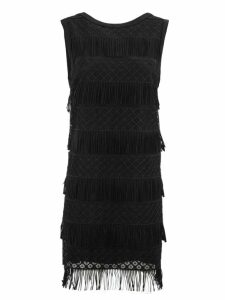 Alberta Ferretti Short Black Tube Dress