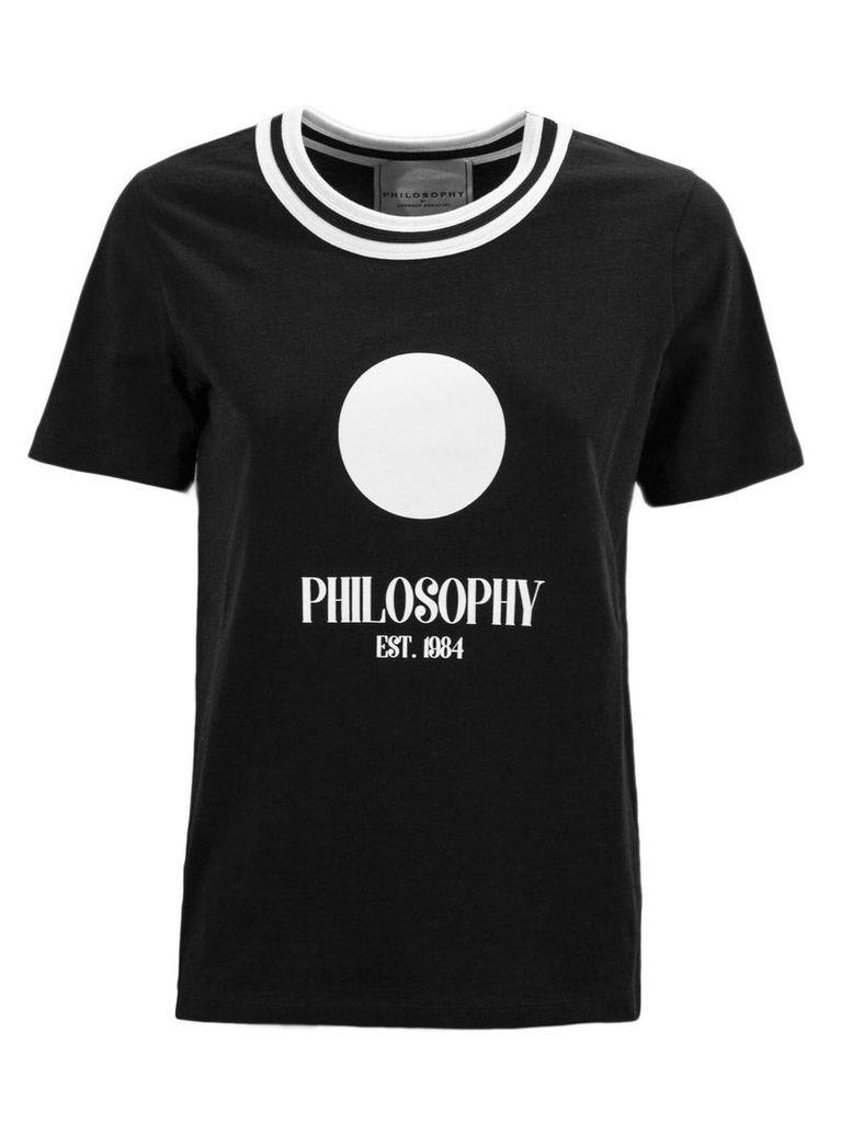 Philosophy di Lorenzo Serafini Black Cotton T-shirt