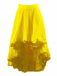 Alexandre Vauthier Yellow Full Pleated Skirt