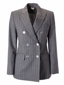 Max Mara Double-breasted Striped Blazer
